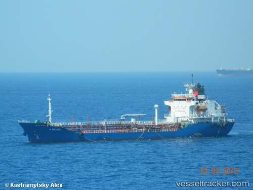 vessel A Michel IMO: 9177674, Bunkering Tanker