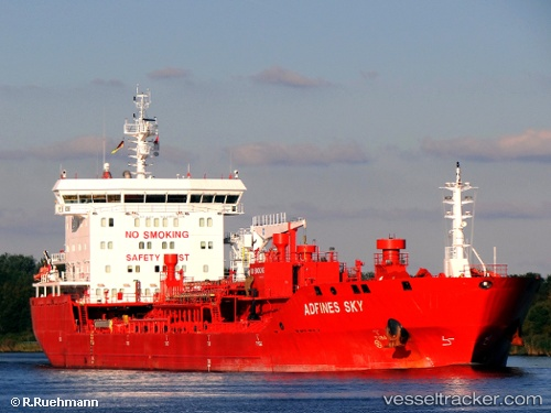 vessel Adfines Sky IMO: 9580986, Chemical Oil Products Tanker